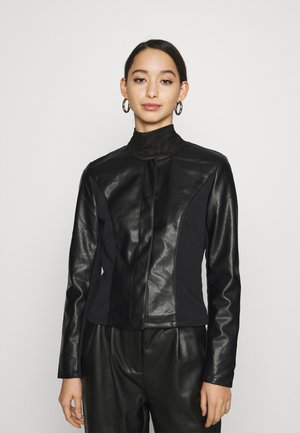 ONLJULIE - Faux leather jacket - black