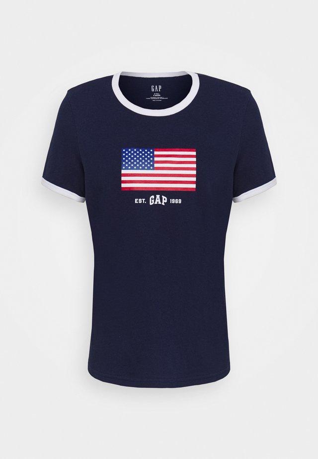 AMERICANA TEE - Print T-shirt - new navy