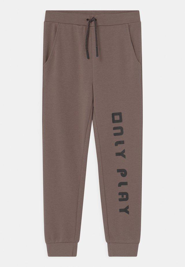 ONPJANAY GIRLS - Teplákové kalhoty - deep taupe/black