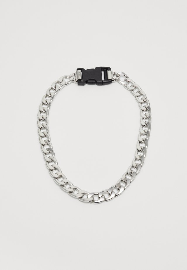 PLASTIC CLIP CHAIN - Necklace - silver-coloured/black