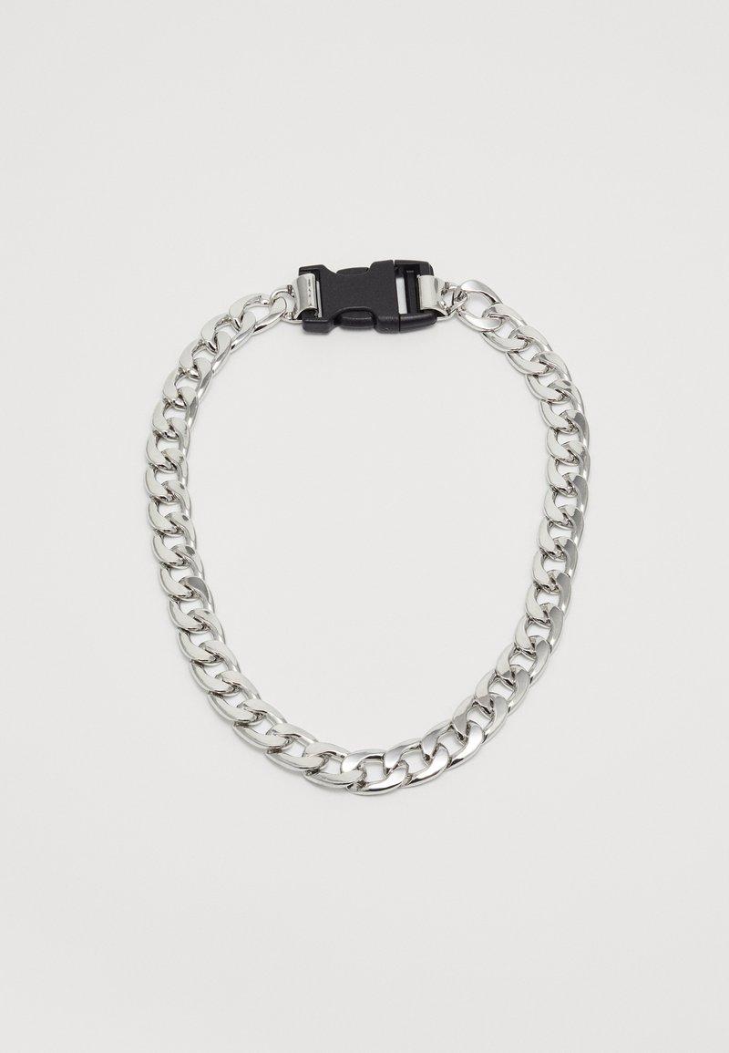 Uncommon Souls - PLASTIC CLIP CHAIN - Necklace - silver-coloured/black