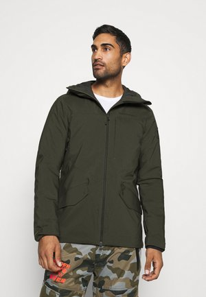 MAROON LONG JACKET - Ski jacket - coniferous green