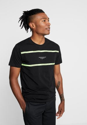 NEON PANEL - T-shirt print - black