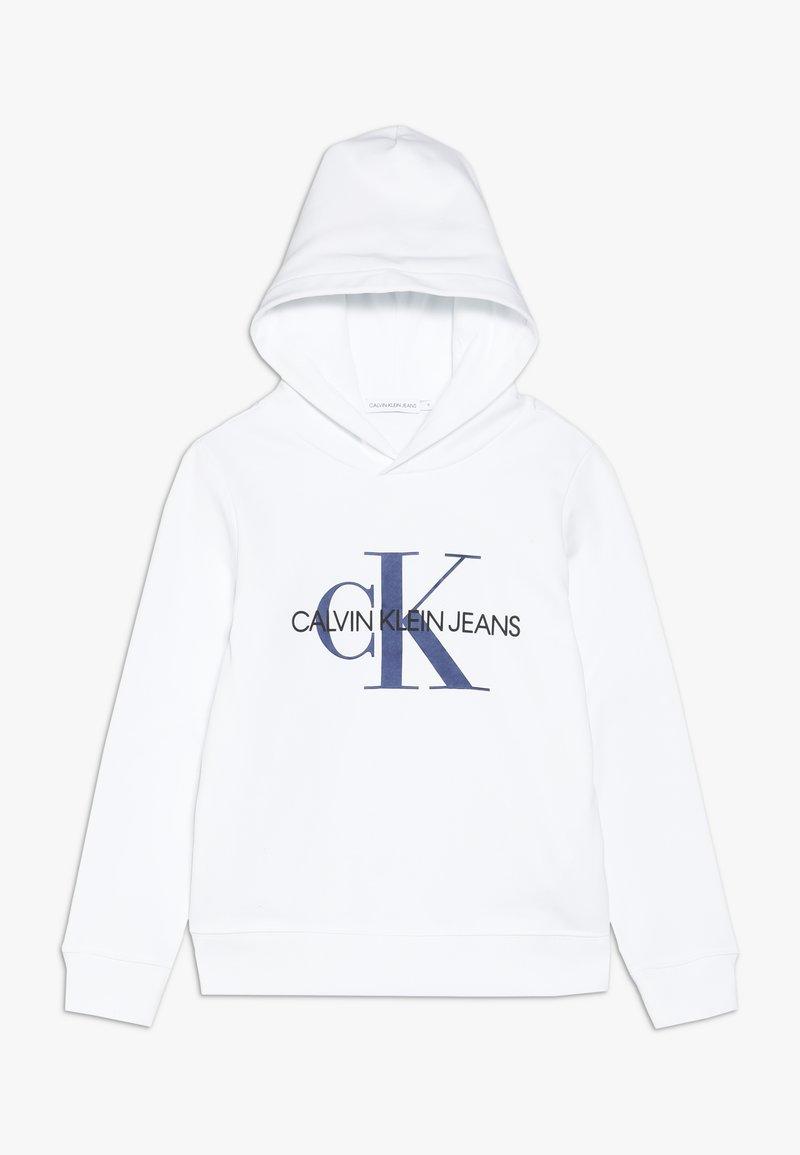 Calvin Klein Jeans - MONOGRAM HOODIE UNISEX - Jersey con capucha - white