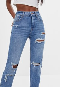 Bershka - Relaxed fit jeans - blue denim - 3