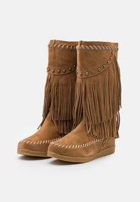 Colors of California - MEDIUM BOOT WITH FRINGES - Cowboy-/Bikerlaarzen - tan - 2