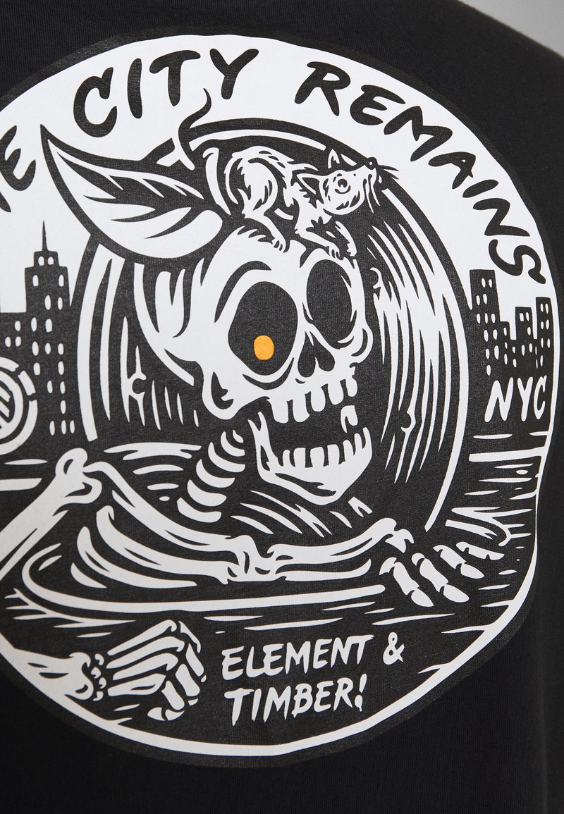 Element - SIDE - Print T-shirt - flint black