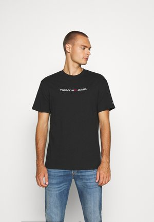 STRAIGHT LOGO TEE - T-shirt print - black