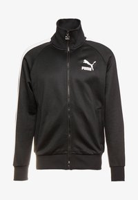 Puma - ICONIC TRACK - Sweat à capuche zippé - black - 4