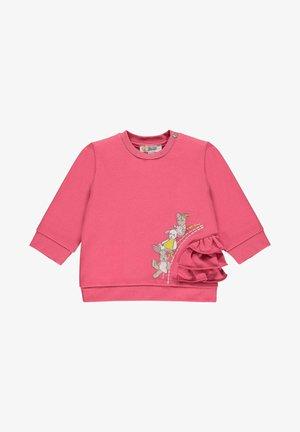 BEST FRIENDS MIT VOLANTS - Sweatshirt - claret red