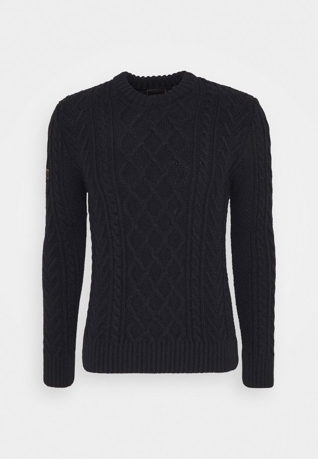 JACOB CABLE CREW - Jumper - downhill navy