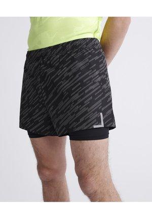 TRAINING LIGHTWEIGHT REFLECTIVE SHORTS - kurze Sporthose - black reflective