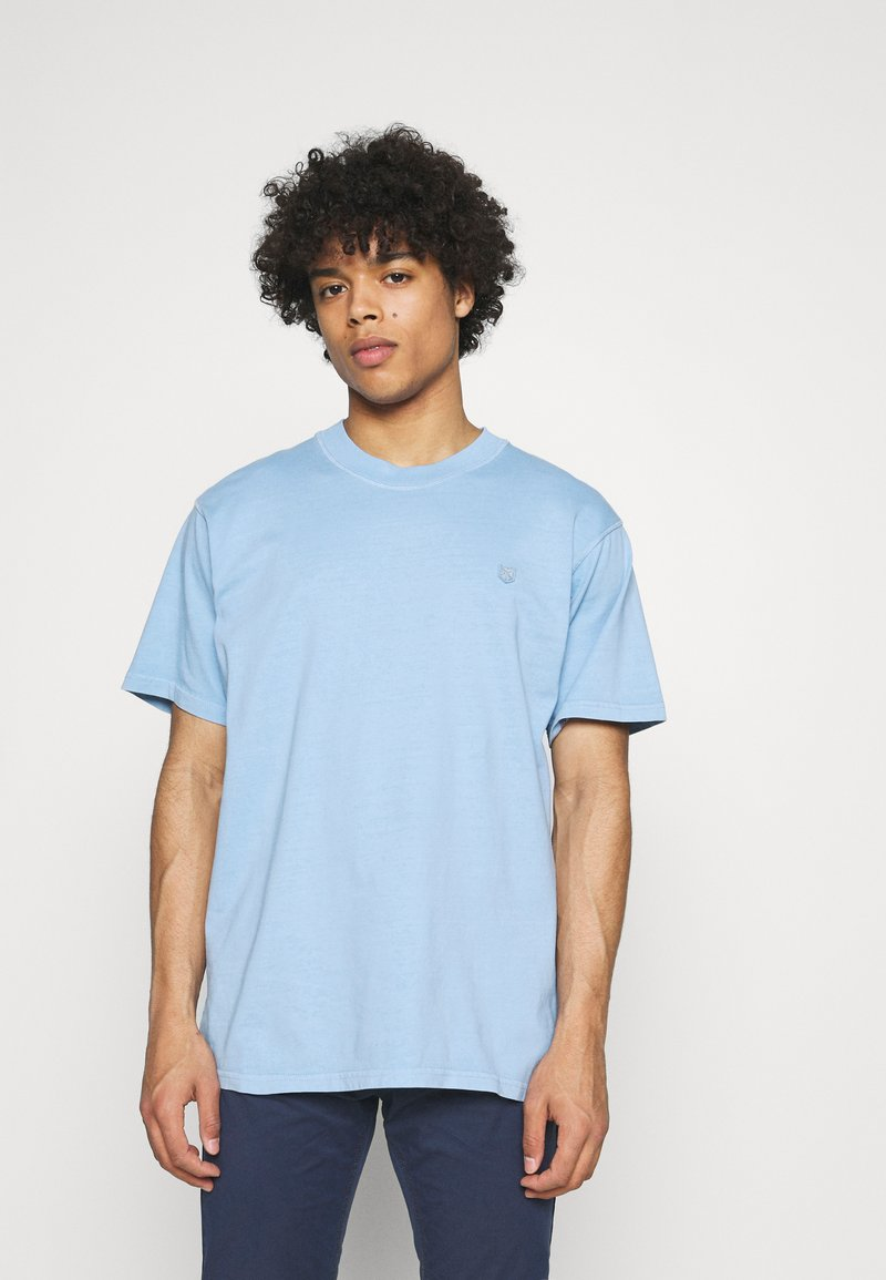 Jack & Jones PREMIUM - JPRBLUJULIO TEE CREW NECK - Basic T-shirt - dusk blue