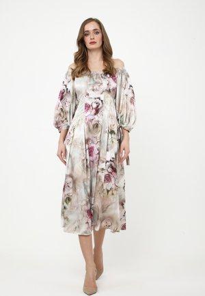 ANTONELLA - Day dress - olive, dunkelrosa