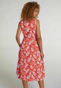 Oui - Day dress - orange blue - 2