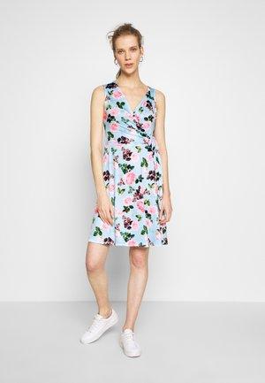 Žerzejové šaty - light blue/rose