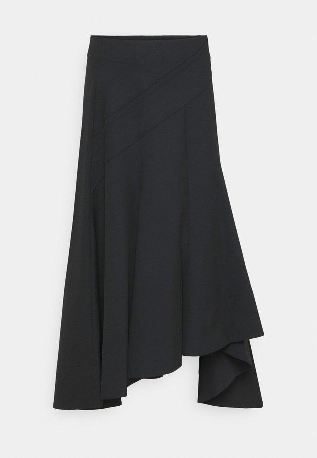 ASYMMETRICAL HEM SKIRT - Pencil skirt - black