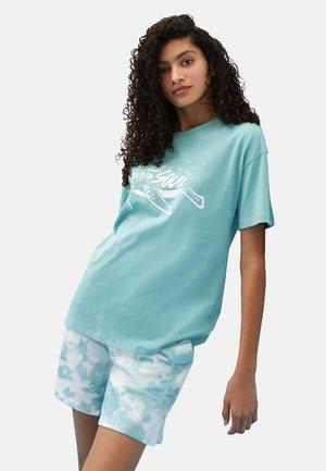 Print T-shirt - dull turquoise
