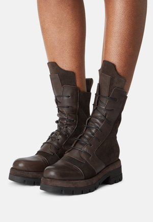 VICKY - Lace-up ankle boots - brown