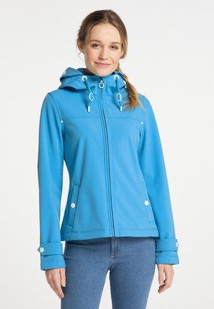 Soft shell jacket - retroblau