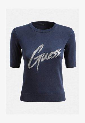 LOGO VOORKANT - T-shirt z nadrukiem - blau