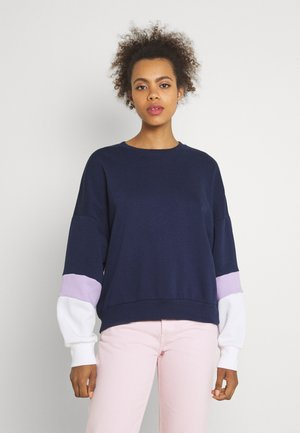 Colour Block Sweatshirt loose fit - Mikina - dark blue
