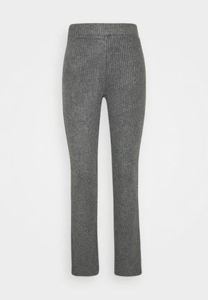 STINA TROUSERS - Bukse - grey melange