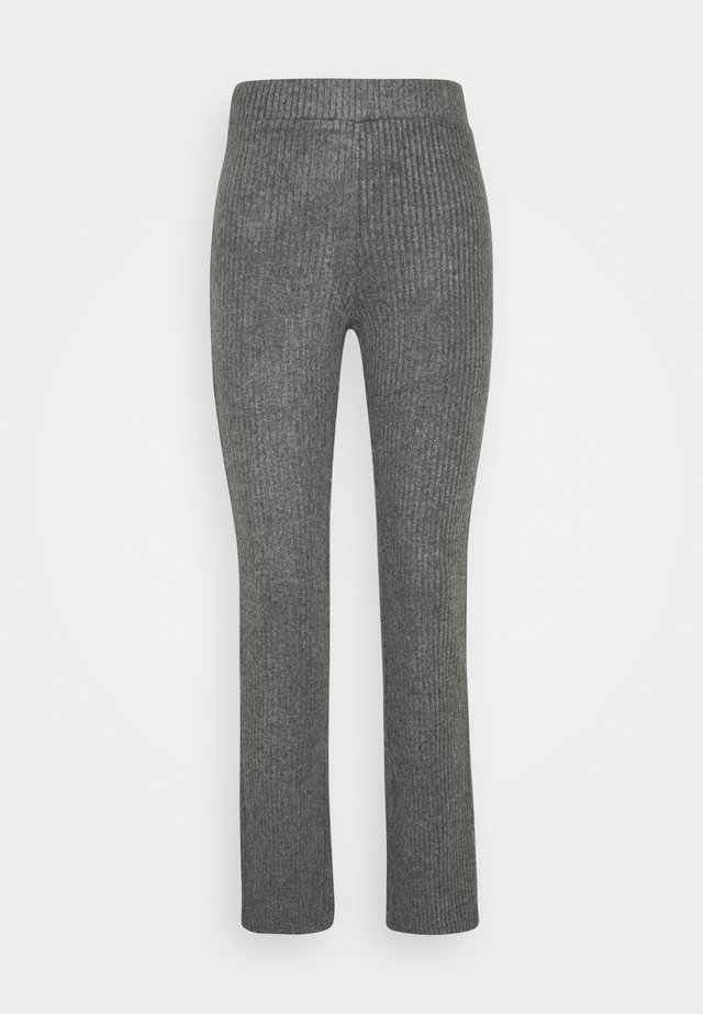 STINA TROUSERS - Stoffhose - grey melange