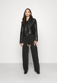 Weekday - MARIAH  - Jeans straight leg - washed black - 1