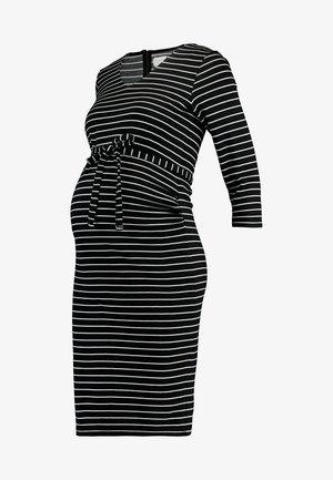 MLBLACKIE SLEEVE JERSEY DRESS  - Shift dress - black/snow white