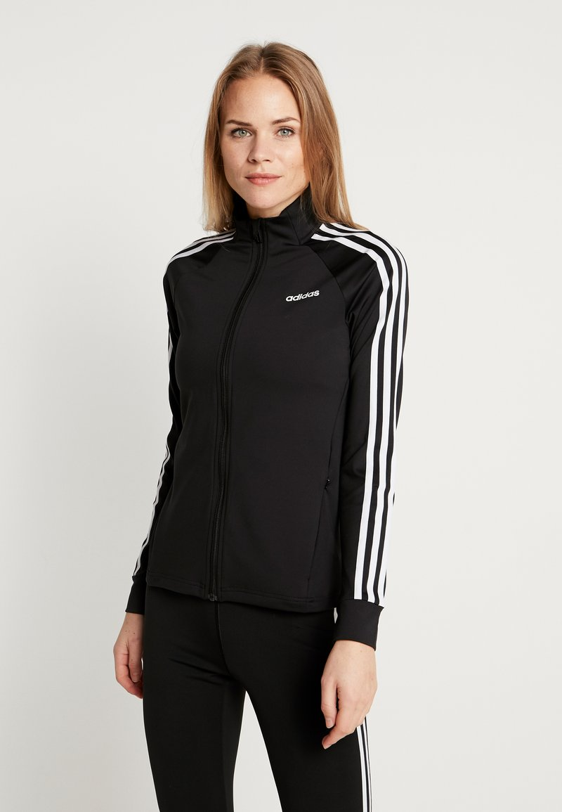 adidas Performance - 3STRIPES DESIGNED2MOVE SPORT TRACK TOP - Chaqueta de entrenamiento - black/white