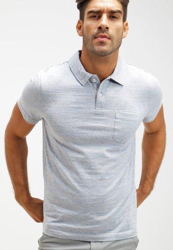 Polo shirt - light blue melange