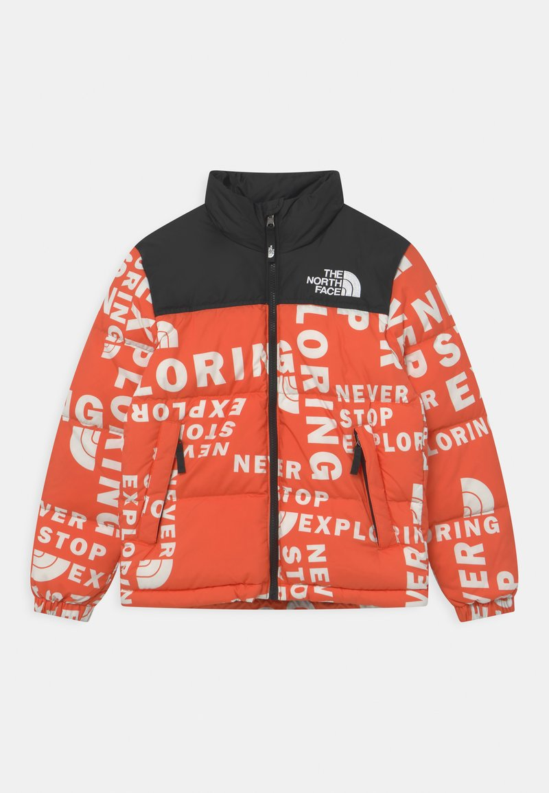 The North Face - PRINTED RETRO NUPTSE UNISEX - Down jacket - red orange