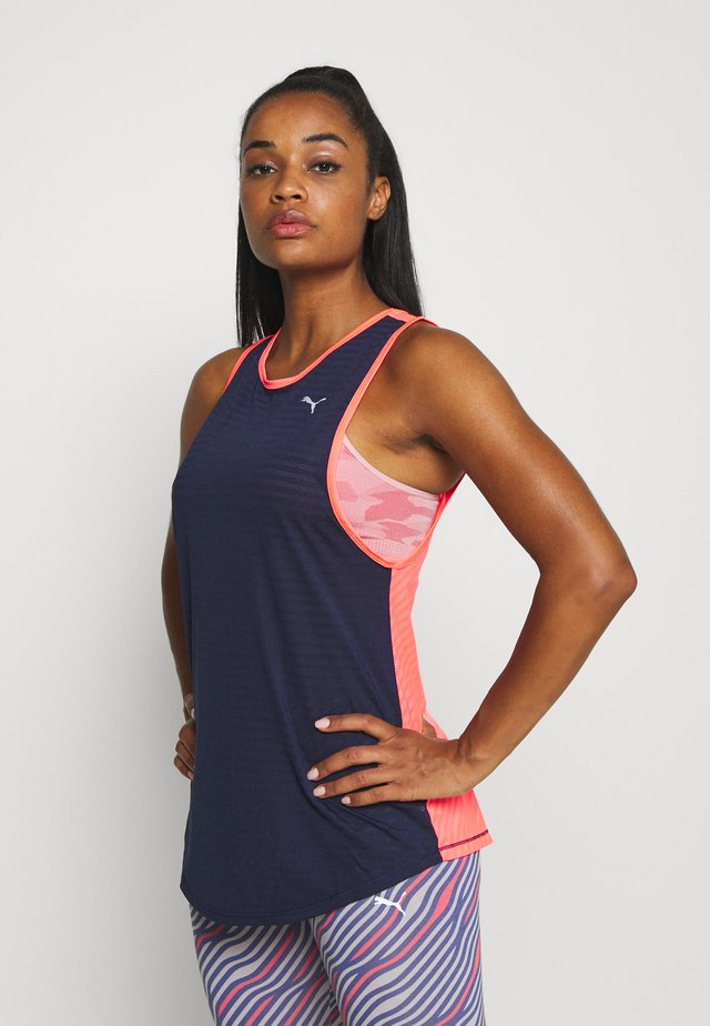 NEO FUTURE TANK - Sports shirt - peacoat/ignite pink