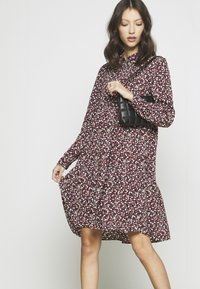 JDY - JDYPIPER  DAYDRESS - Shirt dress - dark navy/rosa ditsy - 3