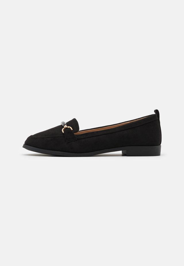 WIDE FIT LOON SNAFFLE LOAFER - Slip-ons - black