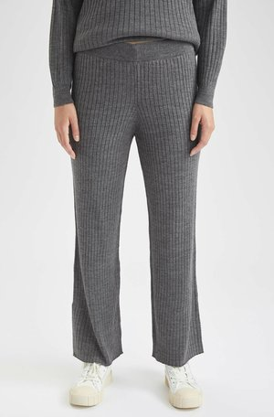 REGULAR FIT  - Trousers - anthracite