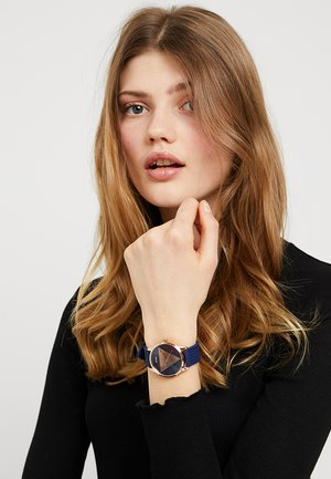 LADIES TREND - Watch - rose gold-coloured/blue