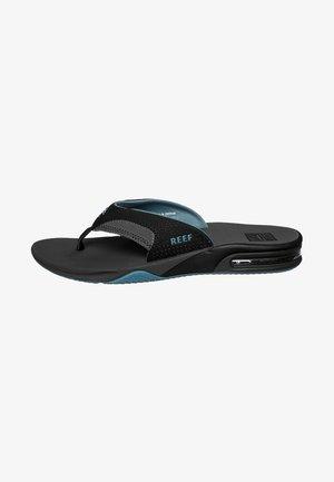 FANNING - T-bar sandals - grey/light blue