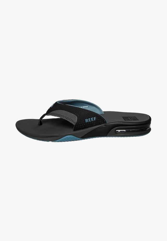 FANNING - Sandaler m/ tåsplit - grey/light blue
