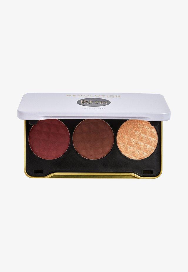 REVOLUTION X PATRICIA BRIGHT FACE PALETTE - Palette pour le visage - dusk till & dawn (dark)