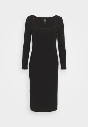 SQUARENECK DRESS - Jumper dress - true black