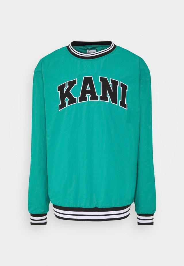 UNISEX SERIF CREW - Sweatshirts - turquoise