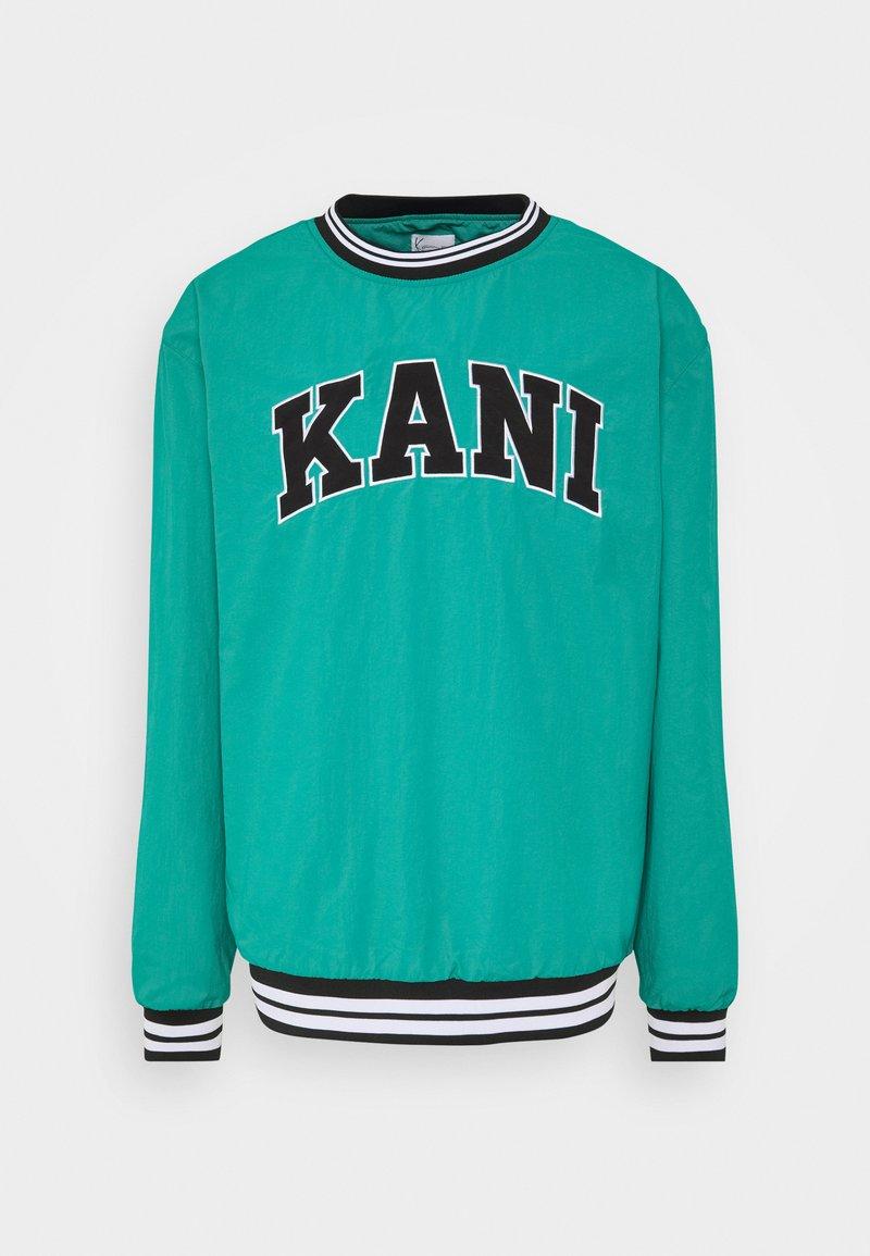 Karl Kani - UNISEX SERIF CREW - Sweatshirt - turquoise