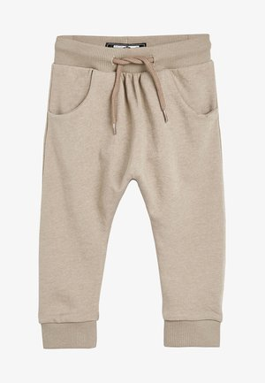 STONE DROP CROTCH - Tracksuit bottoms - beige