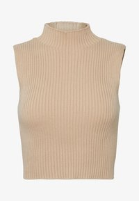 CARE CROP TOP - Top - camel
