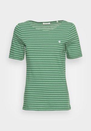 SHORT SLEEVE ROUND NECK STRIPED - Print T-shirt - meadow grass
