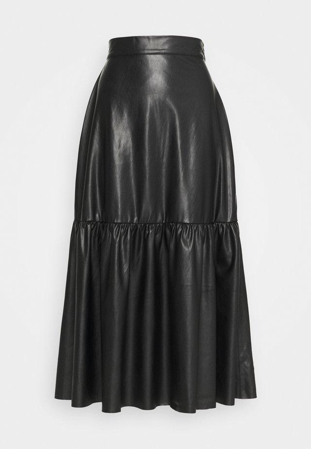 SKIRT ELSA - Falda larga - black