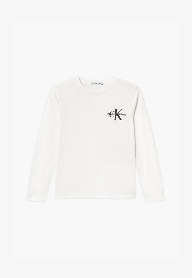 Calvin Klein Jeans - CHEST MONOGRAM UNISEX - Long sleeved top - white