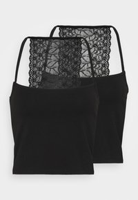Pieces - PCNANLA CROPPED 2 PACK - Top - black - 0